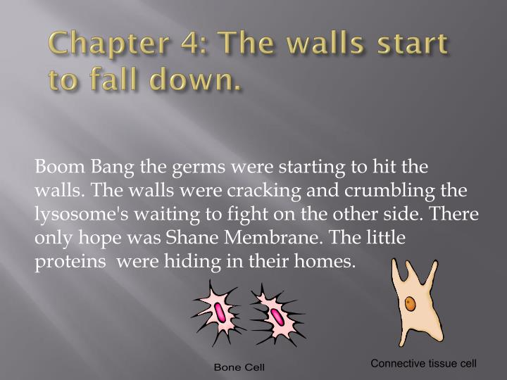 Chapter 4: The walls start to fall down.