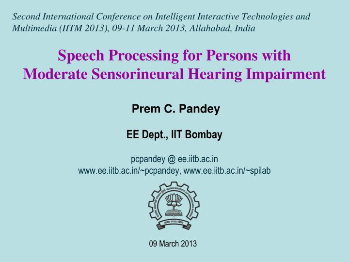 Speech Processing for Persons with