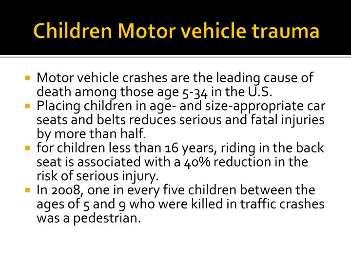 Children Motor vehicle trauma