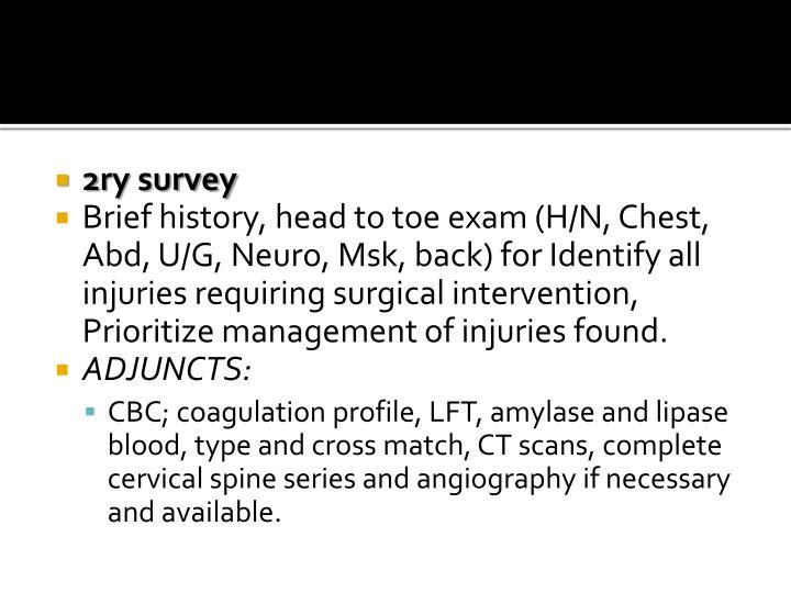 2ry survey