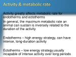 activity metabolic rate