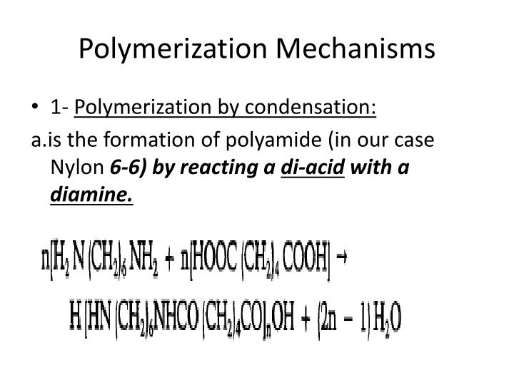 Polymerization Mechanisms