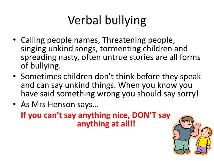 Verbal bullying