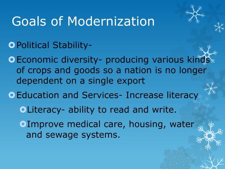 Goals of Modernization