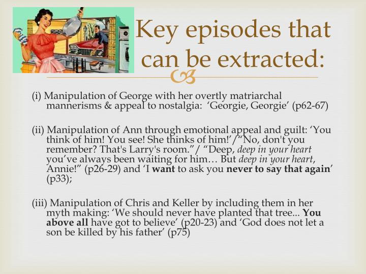 Key episodes that can be extracted: