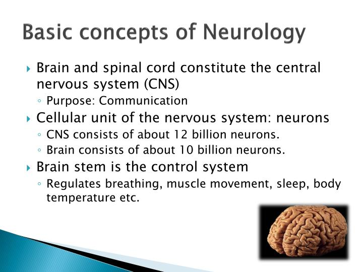 Basic concepts of Neurology