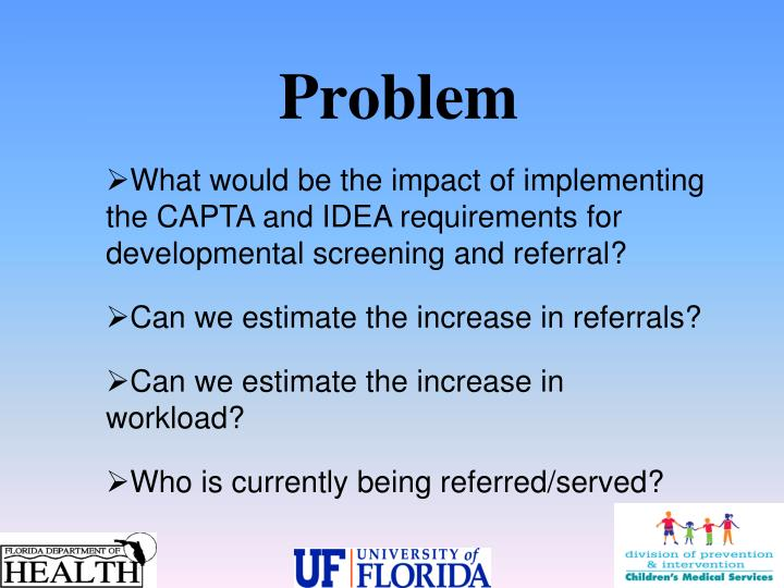 What would be the impact of implementing the CAPTA and IDEA requirements for developmental screening and referral?