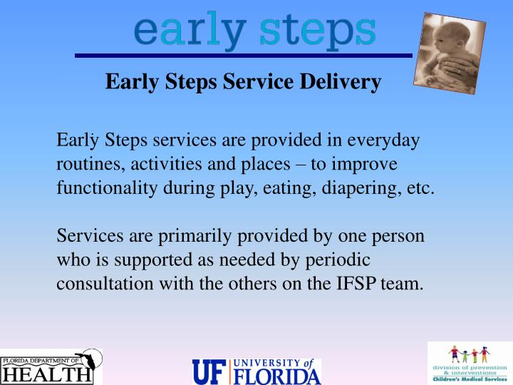 Early Steps Service Delivery
