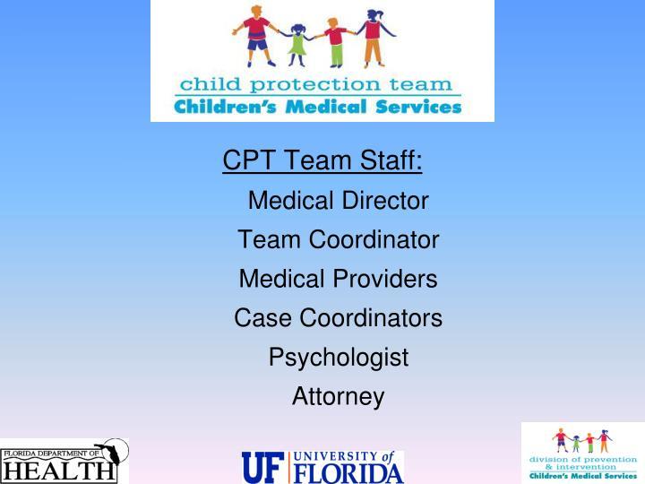CPT Team Staff: