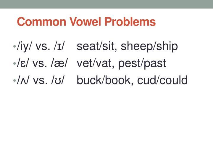 Common Vowel Problems