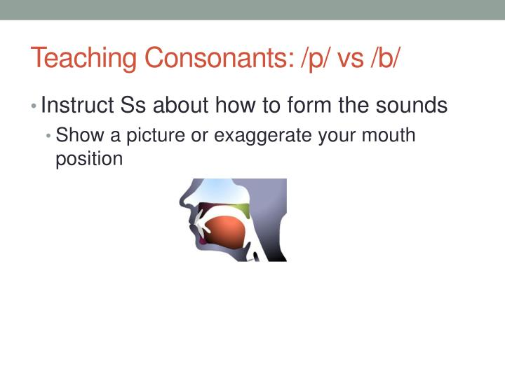 Teaching Consonants: /p/