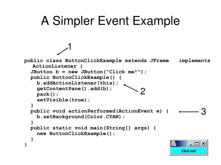 A Simpler Event Example