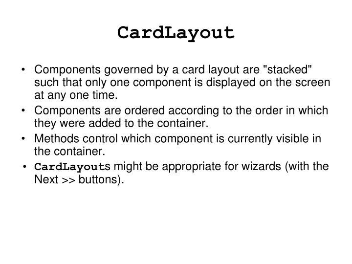 CardLayout