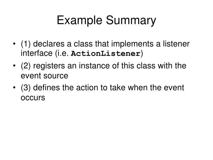 Example Summary