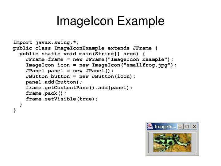 ImageIcon Example