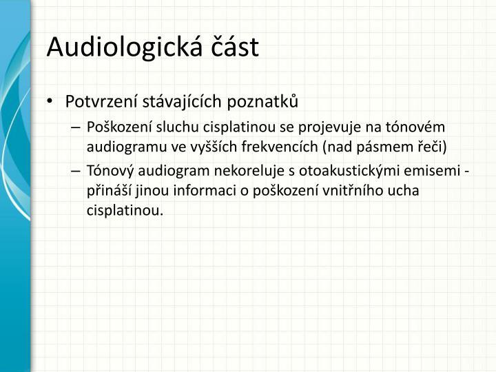 Audiologická část