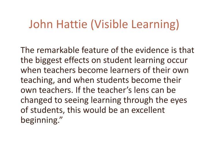 John Hattie (Visible Learning)