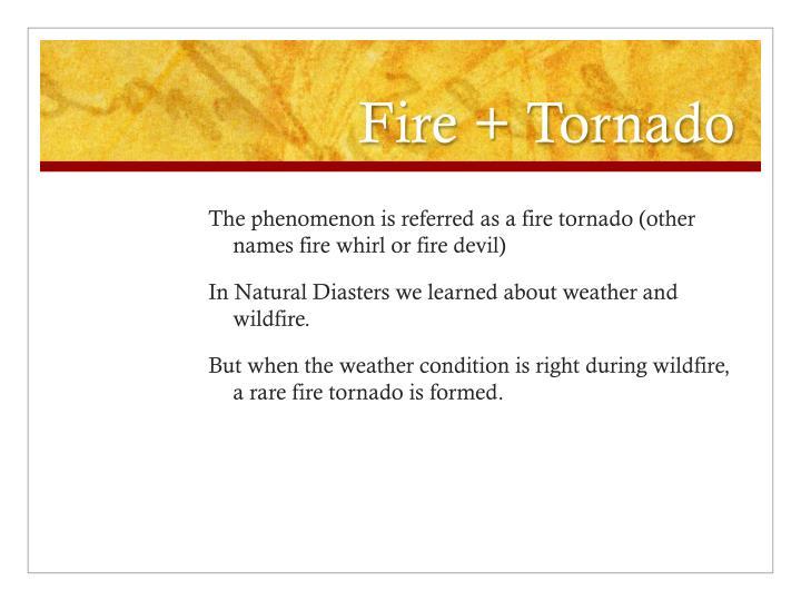 Fire + Tornado