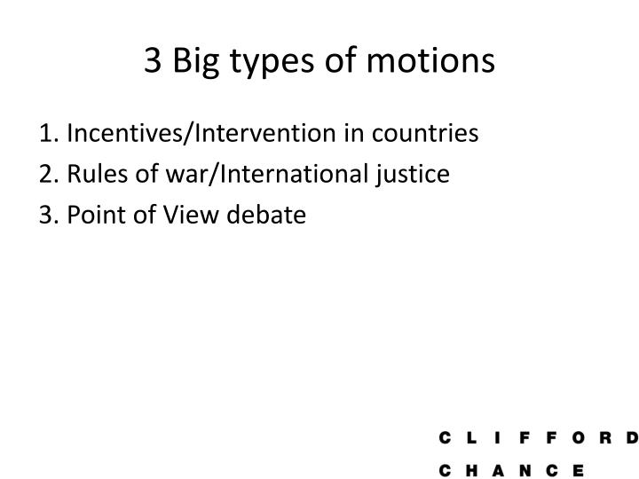 3 Big types of motions