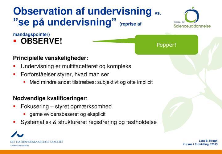 Observation af undervisning