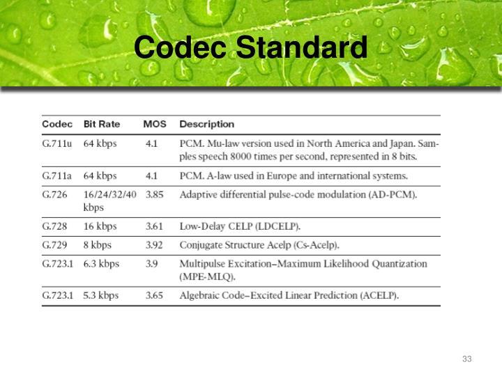 Codec Standard