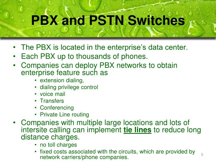 PBX and PSTN Switches