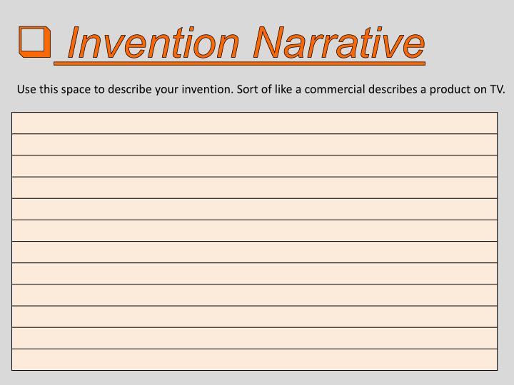 Invention Narrative