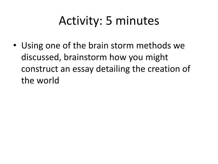 Activity: 5 minutes