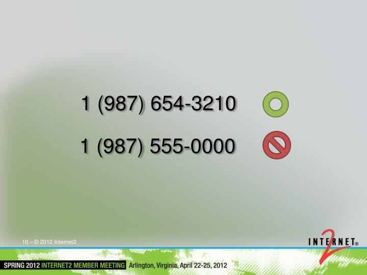 1 (987) 654-3210