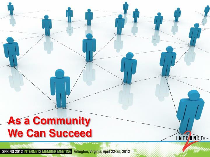 As a Community
