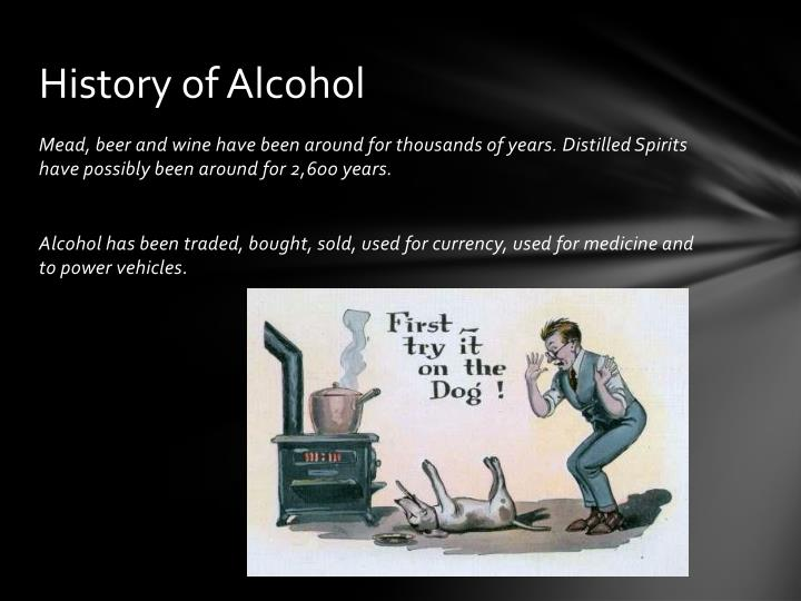 An comparison of alcoholic and non alcoholics history