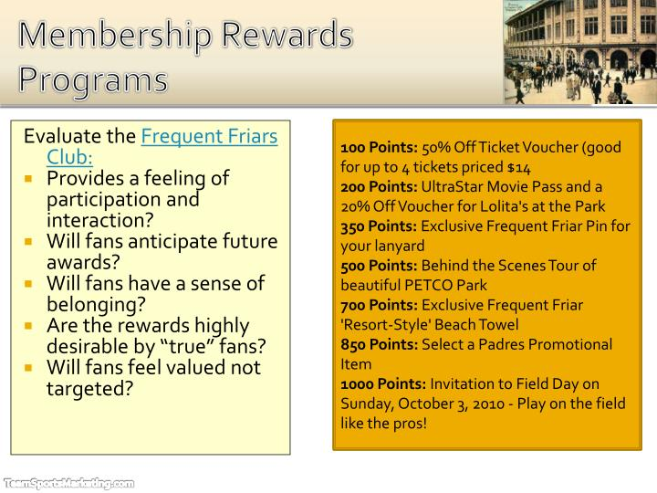 Membership Rewards Programs