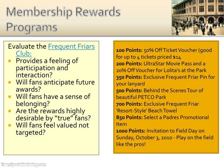 Membership Rewards Programs