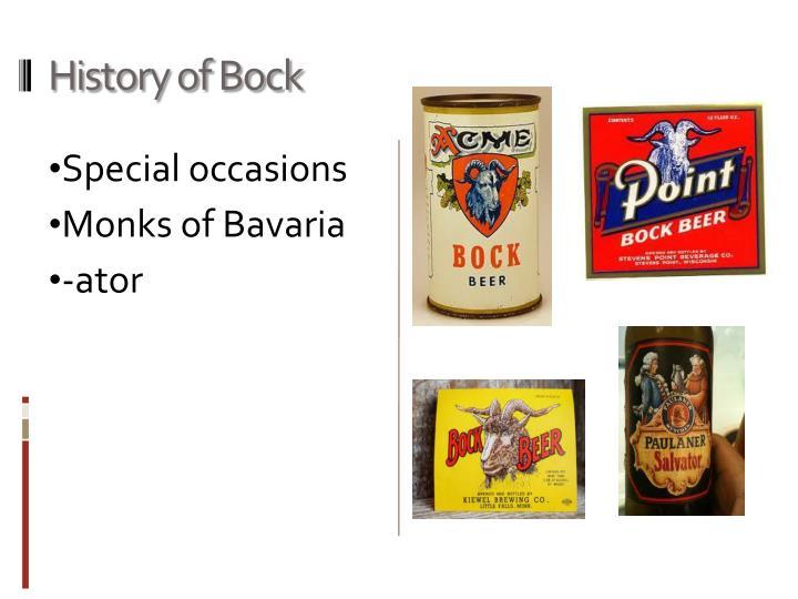 History of Bock