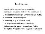 my interest