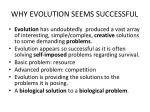 why evolution seems successful