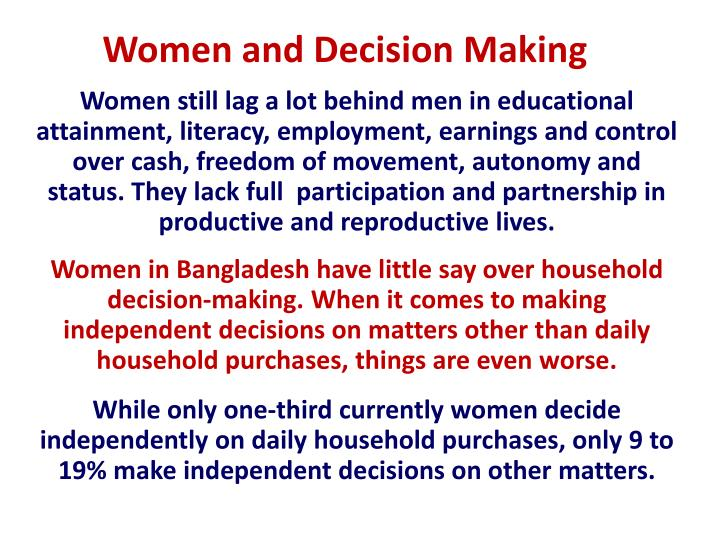 Women and Decision Making