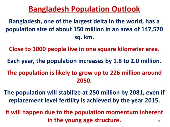 Bangladesh Population Outlook