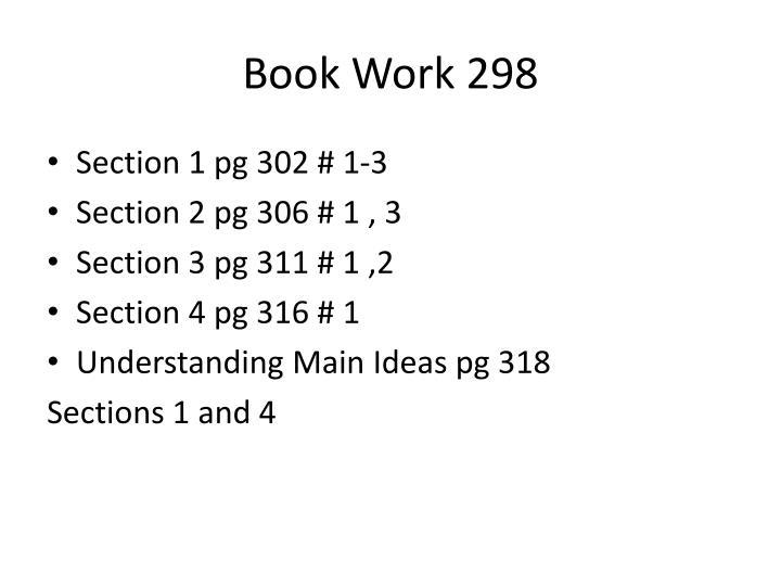 Book Work 298