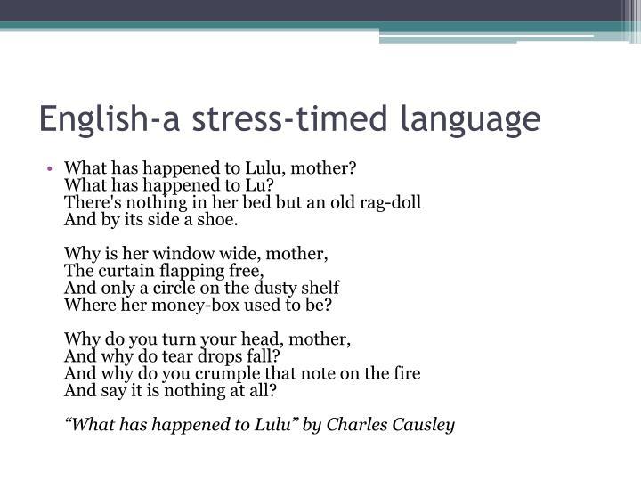 English-a stress-timed language