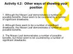 activity 4 2 other ways of showing your position