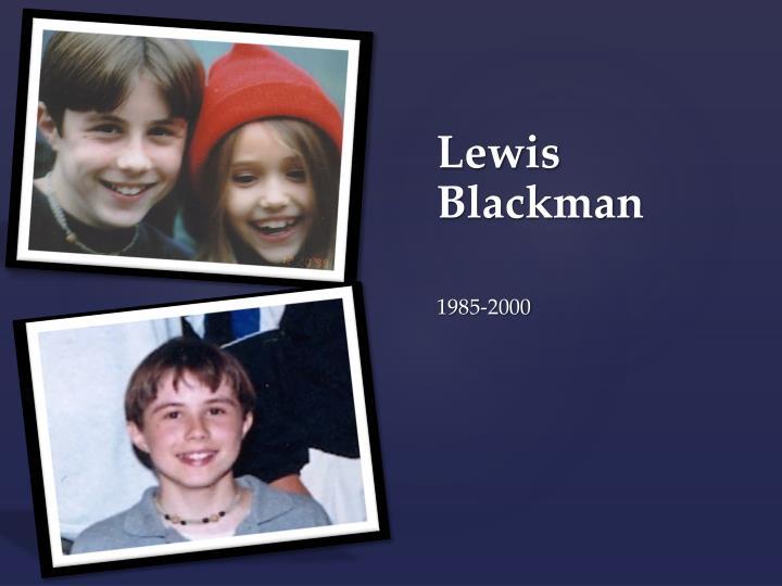 Lewis Blackman