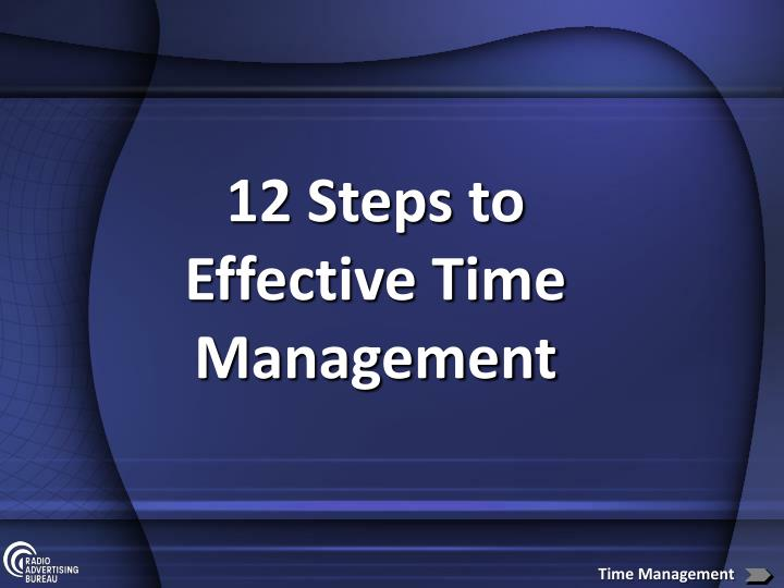 12 Steps to Effective Time Management
