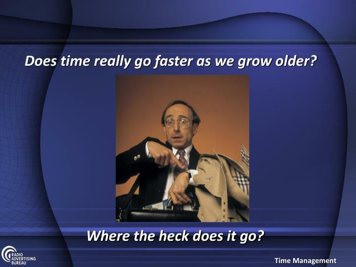 Does time really go faster as we grow older?