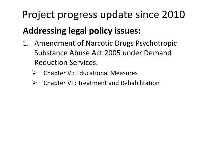 Project progress update since 2010