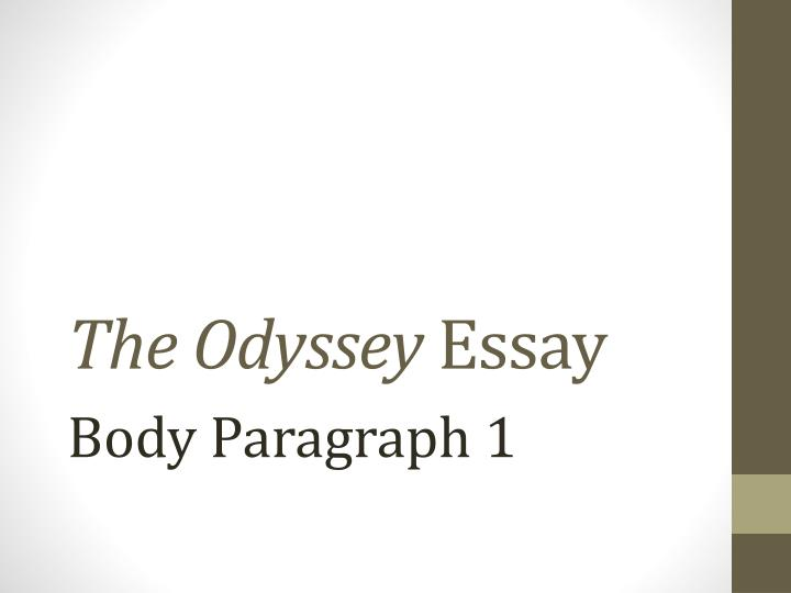 essays over the odyssey