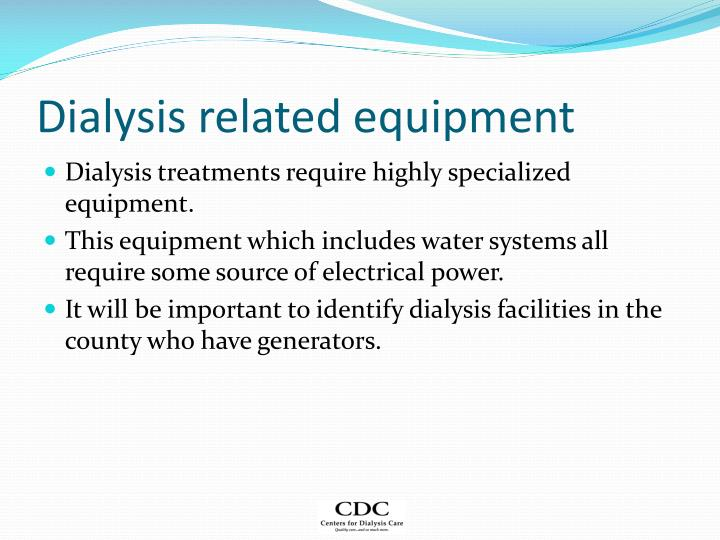 Dialysis related equipment