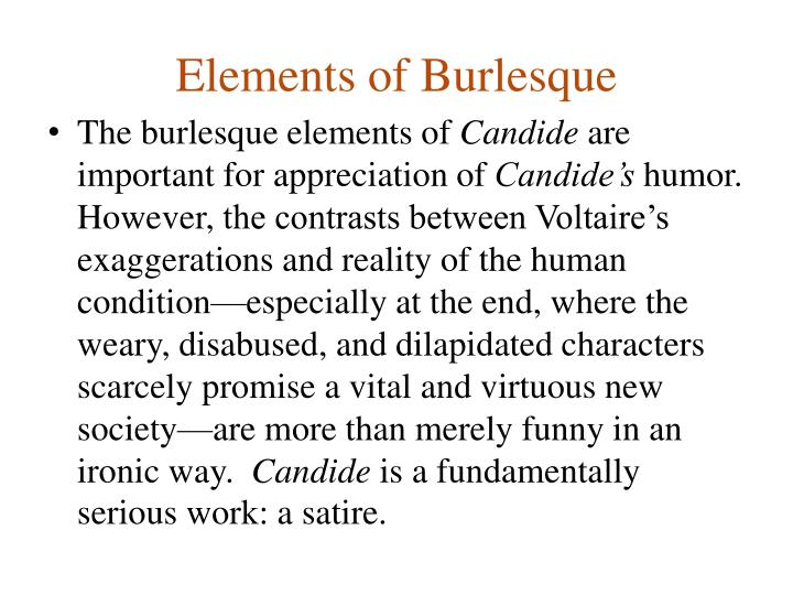 Elements of Burlesque