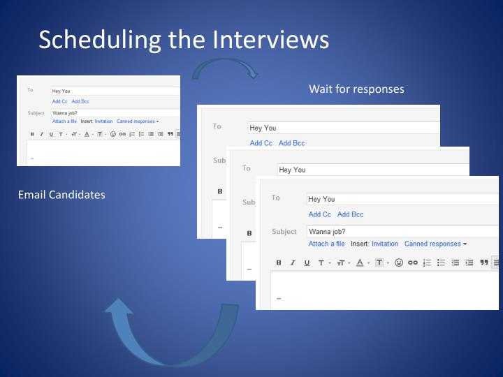 Scheduling the Interviews