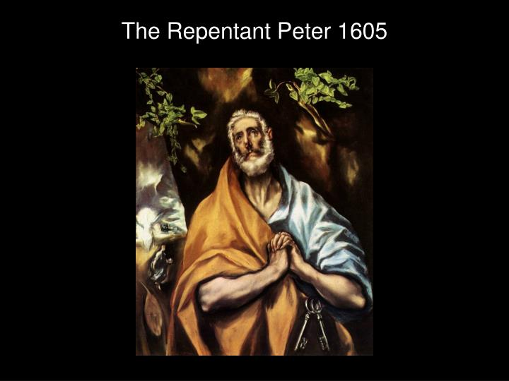 The Repentant Peter 1605